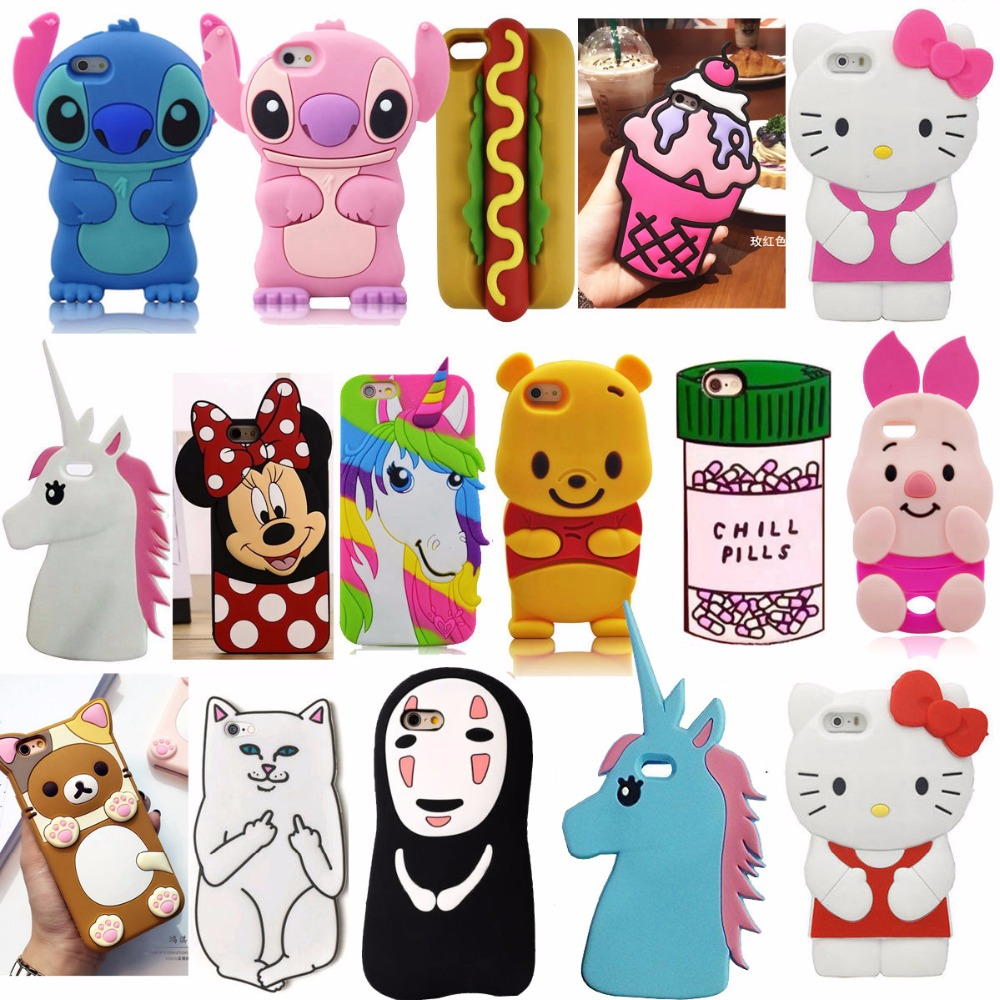 3D Cartoon Soft Silicone Mobile Back Cover Skin Shell For <font><b>Apple</b></font> iPhone 5 5S <font><b>5C</b></font> SE 6 6S 6 Plus 6S 7 Plus <font><b>Phone</b></font> Cases Fundas <font><b>Coque</b></font>