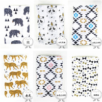 Muslin Baby Cotton Gauze Scarf Wrapped Blankets Wrapped Towels Spring Autumn Animal Pattern Fashion Infantil Receiving