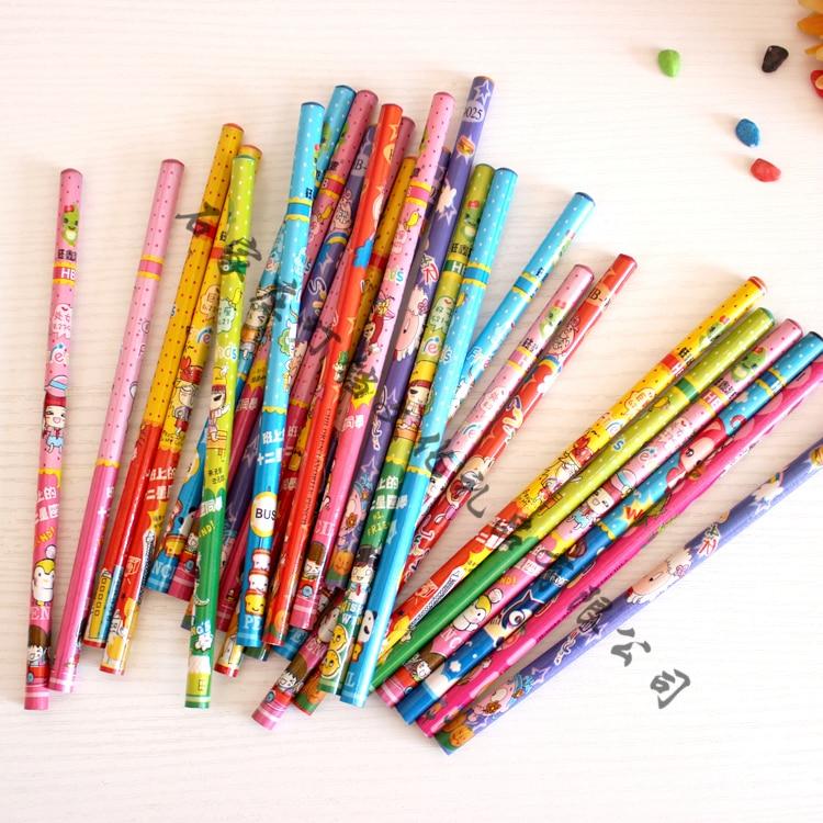 25 Pcs / Lot Bulk Pencil HB Pencil Student Stationery Wholesale Cartoon Design Wholesale Price Of Single Super Di Office