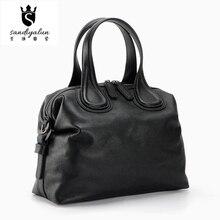 2016 New Fashion Genuine Leather Women Handbags Ladies Litchi Pattern Cow Leather Big Single Shoulder Bag Crossbody Shell Bags