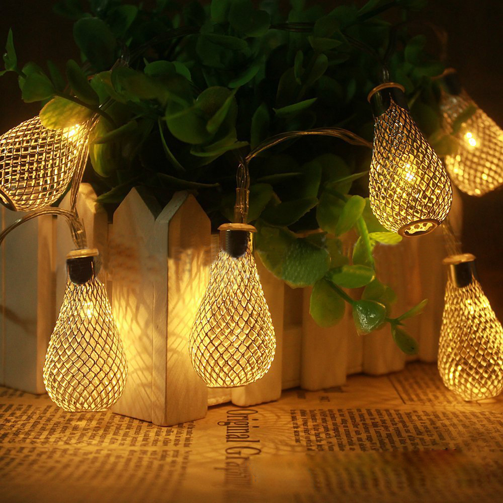 20 led 86inch battery operated diwali decor waterdrop string lamp