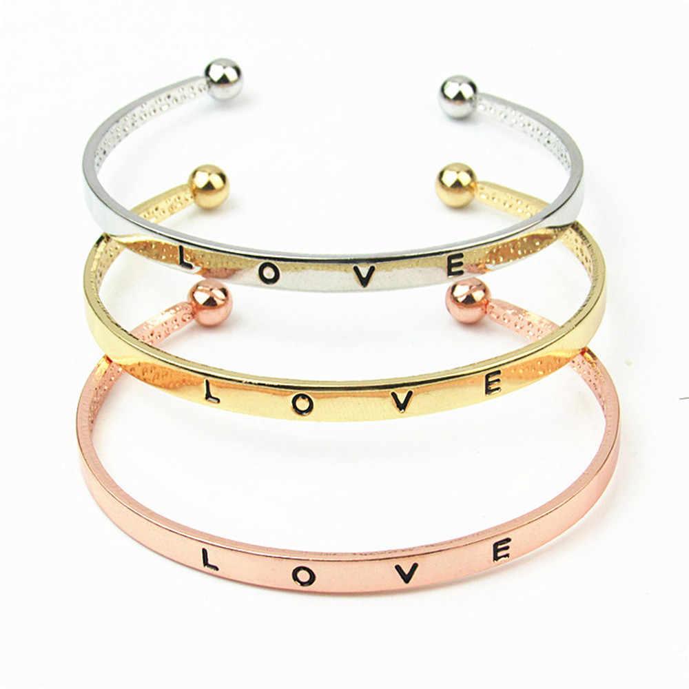 Bracelet élégant femmes Boho romantique Bileklik Pulseira Bracelet lettre amour Bracelets dame bijoux Pulseras Couple Bracelet L0513