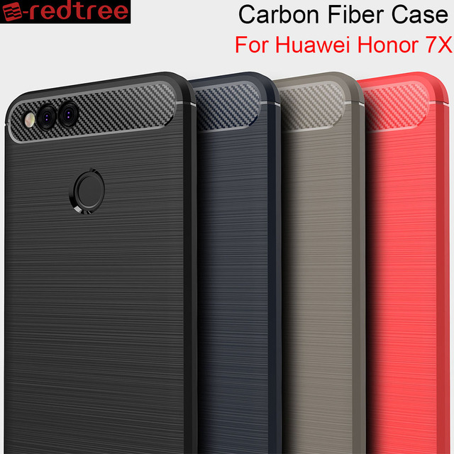promo code 7dc6b 4bff6 US $1.99 |REDTREE Luxury Soft Cases for Huawei Honor 7X Soft TPU Carbon  Fiber Smartphone Case for Huawei Honor 7X Shockproof Back Capa-in Fitted  Cases ...