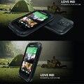 ЛЮБОВЬ МЭЙ Оригинальный Противоударный Призма Водонепроницаемый Мощный Алюминиевый Металлический Корпус Для HTC New One M8 Металлическая Крышка Розничной Упаковке