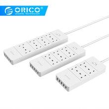 ORICO USB di Alimentazione Striscia Principale UK Spina 4 6 8 Presa di CORRENTE Presa di Corrente 5 Porta USB Surge Protetto Cavo di Estensione adattatore Cavo di Alimentazione 1.5M
