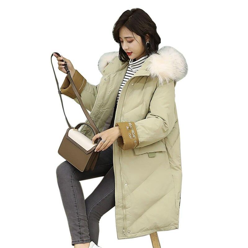 women   parkas   2018 Winter Jacket Women Coats Hooded Coats Female   Parka   Thick Cotton Padded Winter Female Coats Long Outerwear