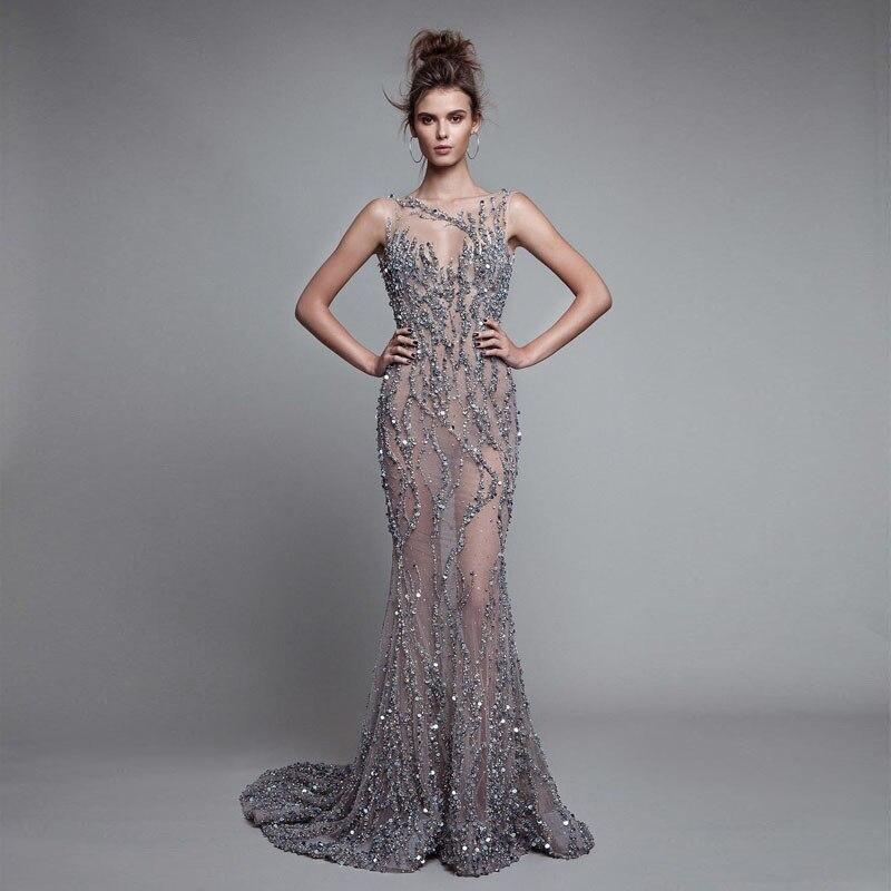 Designer Cocktail Dresses: Super Luxury Beading Evening Dresses Long Sexy Backless