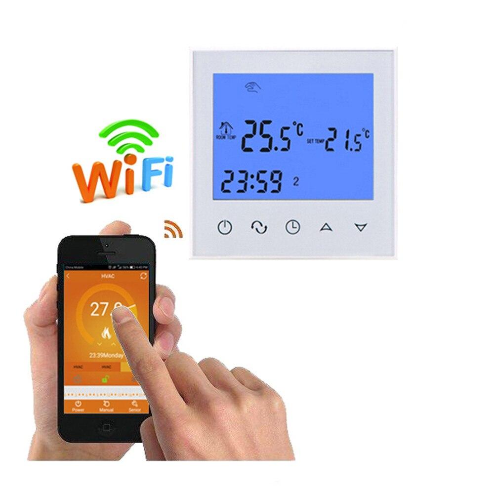 Thermostat de chauffage WiFi télécommande pour chauffage par le sol électrique 12/16A chauffage infrarouge par le sol contrôle de la température par téléphone