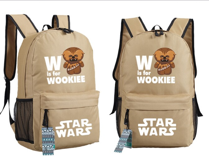 wookiee star wars school backpack