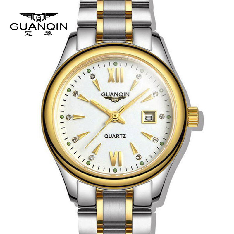 Free shipping top quality fashion women watch luxury brand GUANQIN GQ80019-1A ultra-thin luminous waterproof  lady quartz watch