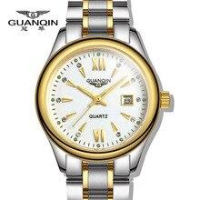 Neue Uhren frauen Mode Luxus uhren Top Brand GUANQIN Damen Quarz armbanduhren wasserdichte Stahl kleid uhren Frauen uhr