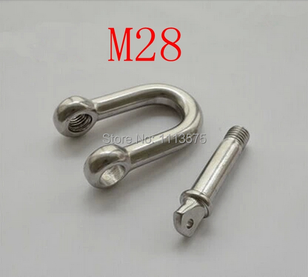 M28 304 321 316 metal stainless steel fasterner hardware d D ring snap shackle shackles m16 m32 316 d shackle stainless steel screw pin d shackle