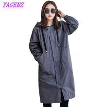 YAGENZ Autumn Winter Windbreaker coat Women Fashion Loose Lo
