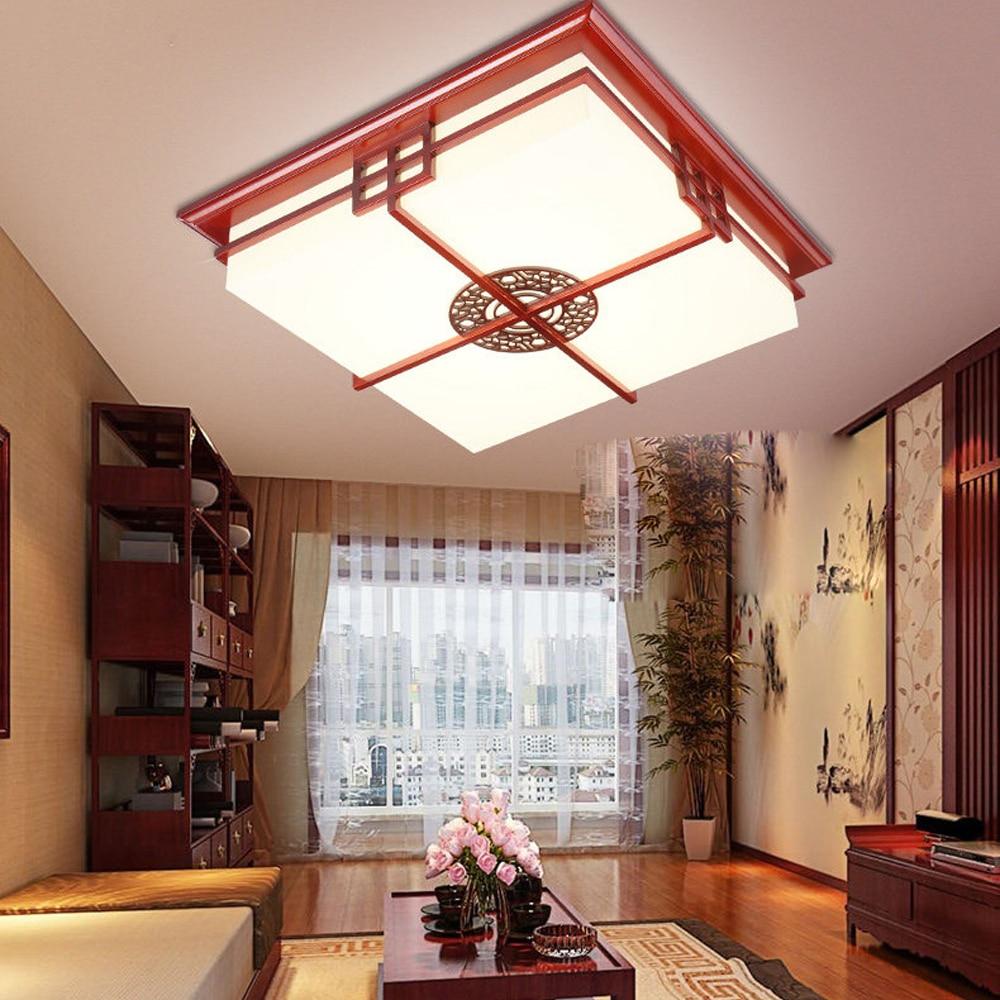 LED Chinese Wooden Sheepskin LED Lamp.LED Light.Ceiling Lights.LED Ceiling Light.Ceiling Lamp For Foyer Bedroom Dinning Room