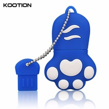 Lindo Mini Cat Paw USB 2.0 Flash Drive 64 GB Pen Drive 32 GB de Memoria Flash Pen Drives de Disco Dispositivo de Almacenamiento de Regalos Personalizados
