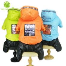 Зимний комбинезон для собак, четыре ноги, теплая одежда для собак, для маленьких собак, Толстая куртка, флисовые комбинезоны для чихуахуа, бульдога, S-XXL