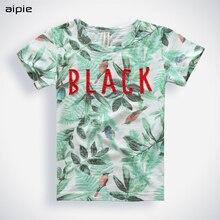 New Summer 2017 Fashion Children T shirt boys girls Unisex Printing Tropical Plants Pattern 95%Cotton + 5%Spandex Kids T-shirts