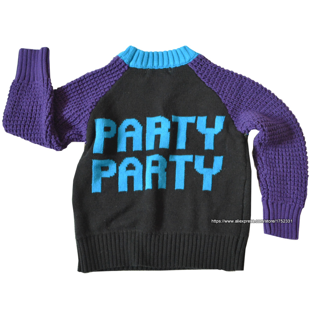 QUIKGROW-Winter-Warm-Textured-YES-PARTY-Unisex-Infant-Girls-Sweater-Baby-Boy-Pullover-Cute-Retro-Style-Jumpers-YM18MY-1