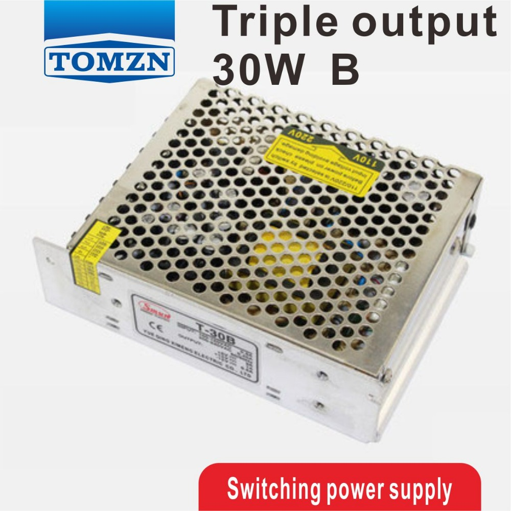 30W Triple output 5V 24V -12V Switching power supply smps AC to DC