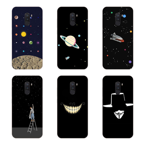Xiaomi Pocophone F1 Case,Silicon Black graffiti Painting Soft TPU Back Cover for Xiaomi Pocophone F1 Protect Phone cases shell Islamabad