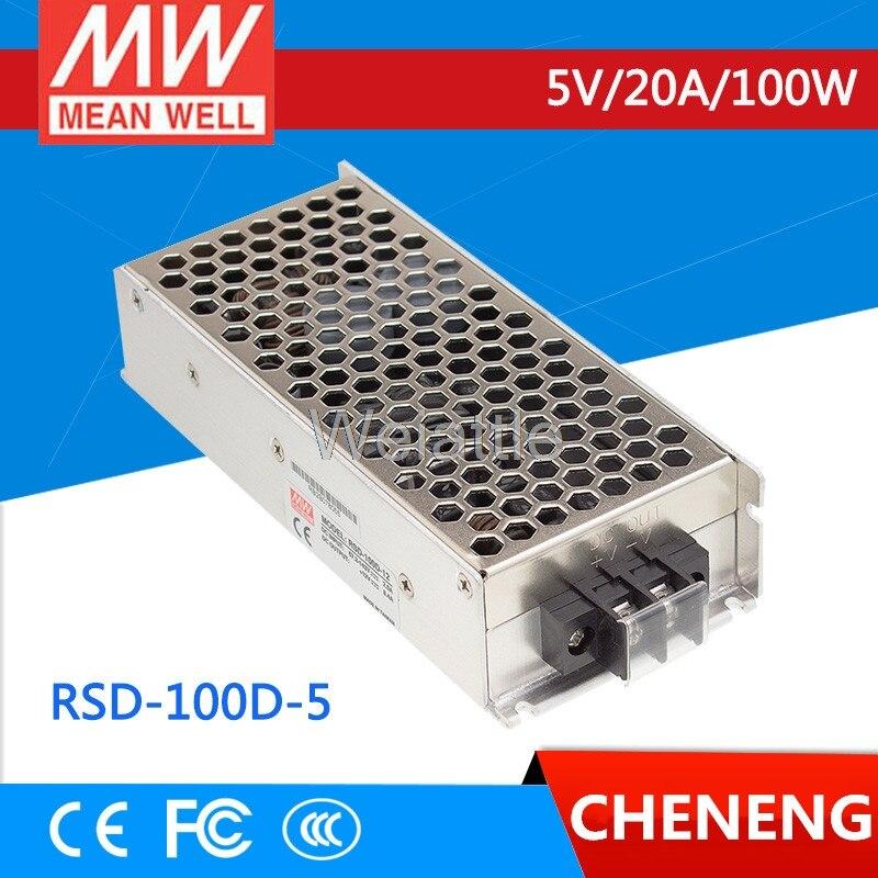 MEAN WELL original RSD-100D-5 5V 20A meanwell RSD-100 5V 100W Railway Single Output DC-DC Converter
