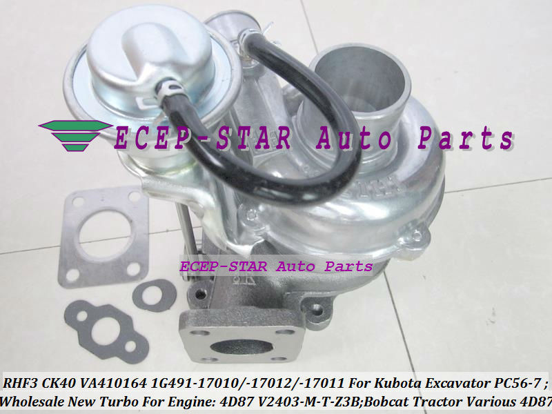 TURBO RHF3 CK40 VA410164 1G491-17011 1G491-17012 1G491-17010 Turbocharger For Kubota Excavator PC56-7 Bobcat Tractor 4D87 V2403-M-T-Z3B (6)