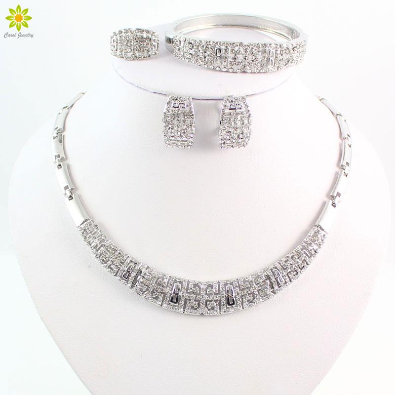 rhinestone beads jewelry set for party fashion wedding bridal costume