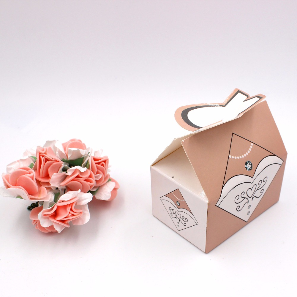 100pcs Paper Candy Box Bride Groom Dresses Packing Sweet Bag Wedding Favors Gift Boxes For Guest Party Decoration (3)