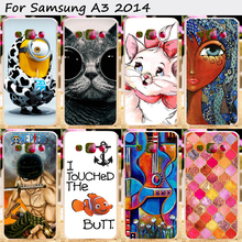 Plastic and Silicon Phone Cover For Samsung Galaxy A3 2014 SM-A300FU A300 A3000 A3009 Cases Elegant and Classic Design Phone Bag