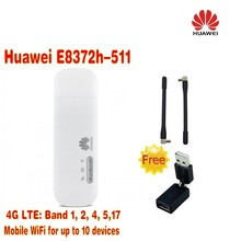 Huawei E8372h-511 LTE USB Wingle  plus 2pcs antenna & 360 degree usb  rotation