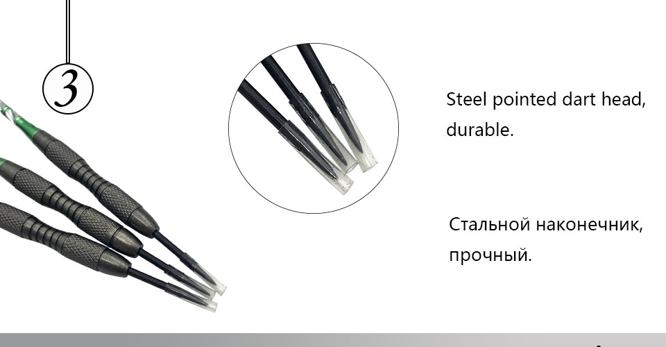 Easytoday 3Pcsset Standard Steel Tip Darts Hard Type Tungsten Darts Set Aluminum Green Shafts Darts Flights Games (3)