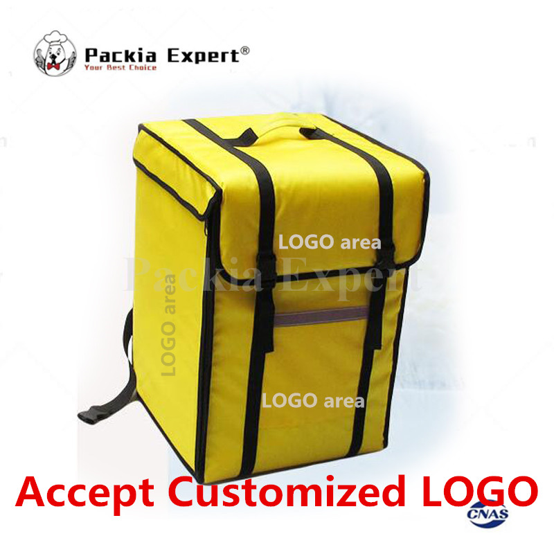 Logo personnalisé 12-14 pouces 69L 39*39*56 cm sac à dos sac d'isolation, emballage alimentaire livraison pizza sac de livraison PKHS69L à emporter