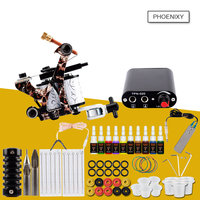 Tattoo Machine Set Professional Tattoo Kit 20 Colors Inks Pigment Set Permanent Makeup Beginner Tattoo Supplies Kit