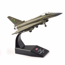 Kids Toys 1/100 Scale Toys UK 2008 Eurofighter Model Toy 1:100 Alloy Diecast Aircraft Airplane Model for Collection Boy Gift new product phoenix 1 400 11347 saudi airways a330 300 hz aqe alloy aircraft model collection model holiday gifts