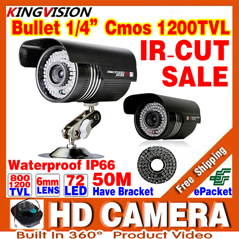 72led Hd Infrared Night Vision 50m 1/3cmos 1200TVl CCTV Security Analog Camera Indoor Outdoor Waterproof IP66 color ahdl Video hot selling 900tvl 1 4 cmos cctv camera night vision 24pcs infrared led light color image security camera with free shipping