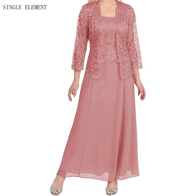 Elegante Madre de la Novia con la Chaqueta de Encaje Vestido de ...