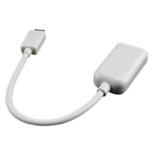 Linhas de linhas de dados USB linhas de dados MICRO USB OTG telefone usb OTG cabo adaptador (Branco)