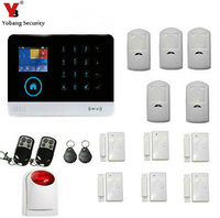 Yobang Безопасности Голос WI FI GSM SIM Главная охранной сигнализации Системы RFID ЖК дисплей Touch Беспроводной SMS Звонок App предупреждение Android IOS