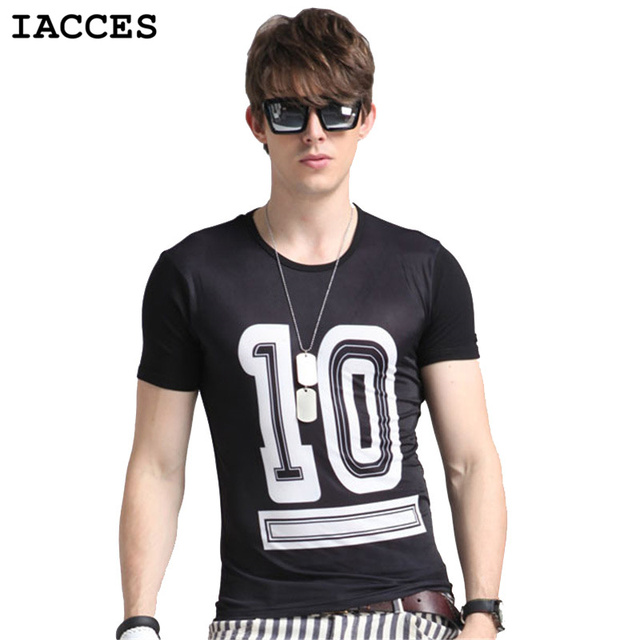 52458a45c84 IACCES New Mens Summer Tops Tees Ice Silk Soft t shirt Man Homme Luxury  Brands fashion round neck Street Hip Hop T shirt
