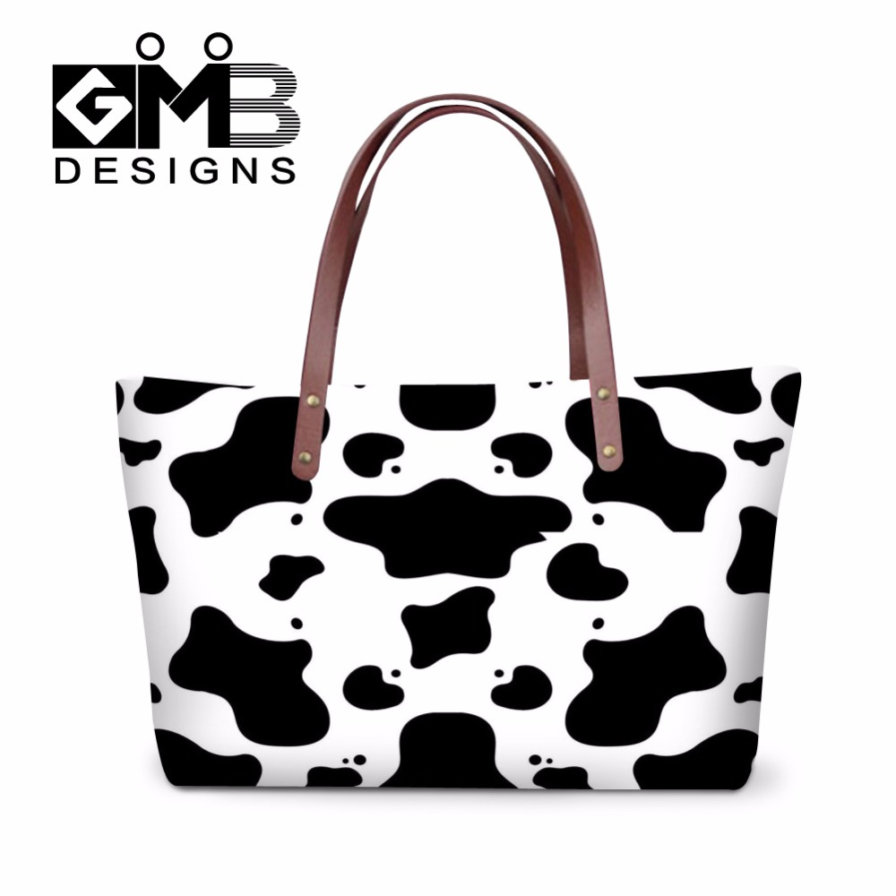 Animal Print Y Shoulder Handbags Cow Large Tote Bags Stylish Leopard Pattern Handbag Hanger For Women Summer Travel Bag In From