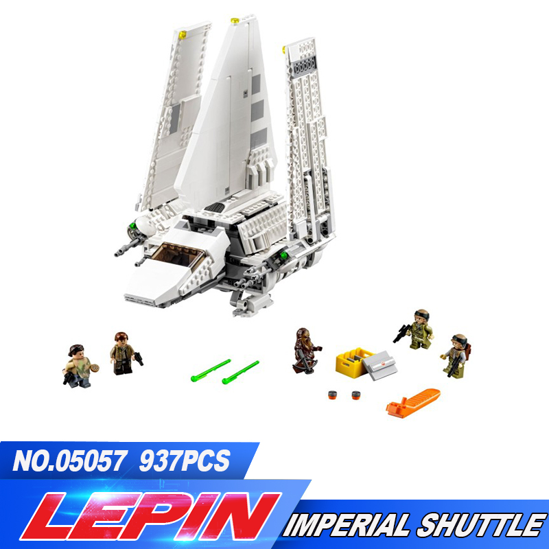 New Lepin 05057 937Pcs Series The Imperial Shuttle Set Model Building Kit Blocks Bricks Toy Compatible Gift With 75094 lepin 16014 1230pcs space shuttle expedition model building kits set blocks bricks compatible with lego gift kid children toy