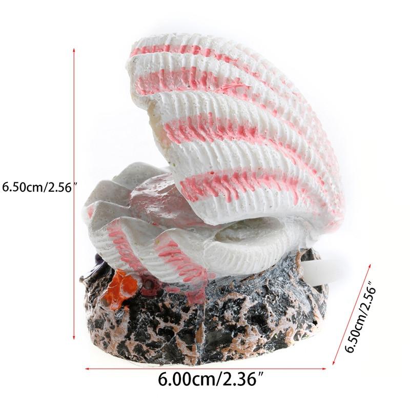 Shell Pearl & Air Stone Aquarium Fish Tank Ornament Shell Bubbler Bubbling Decor