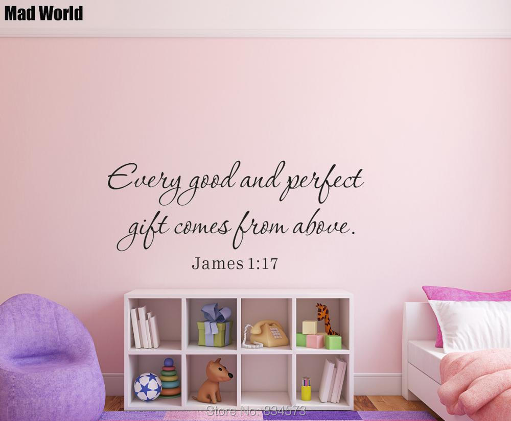 Every good and perfect gift comes from above Wall Art Stickers Wall Decal Home DIY Decor ...