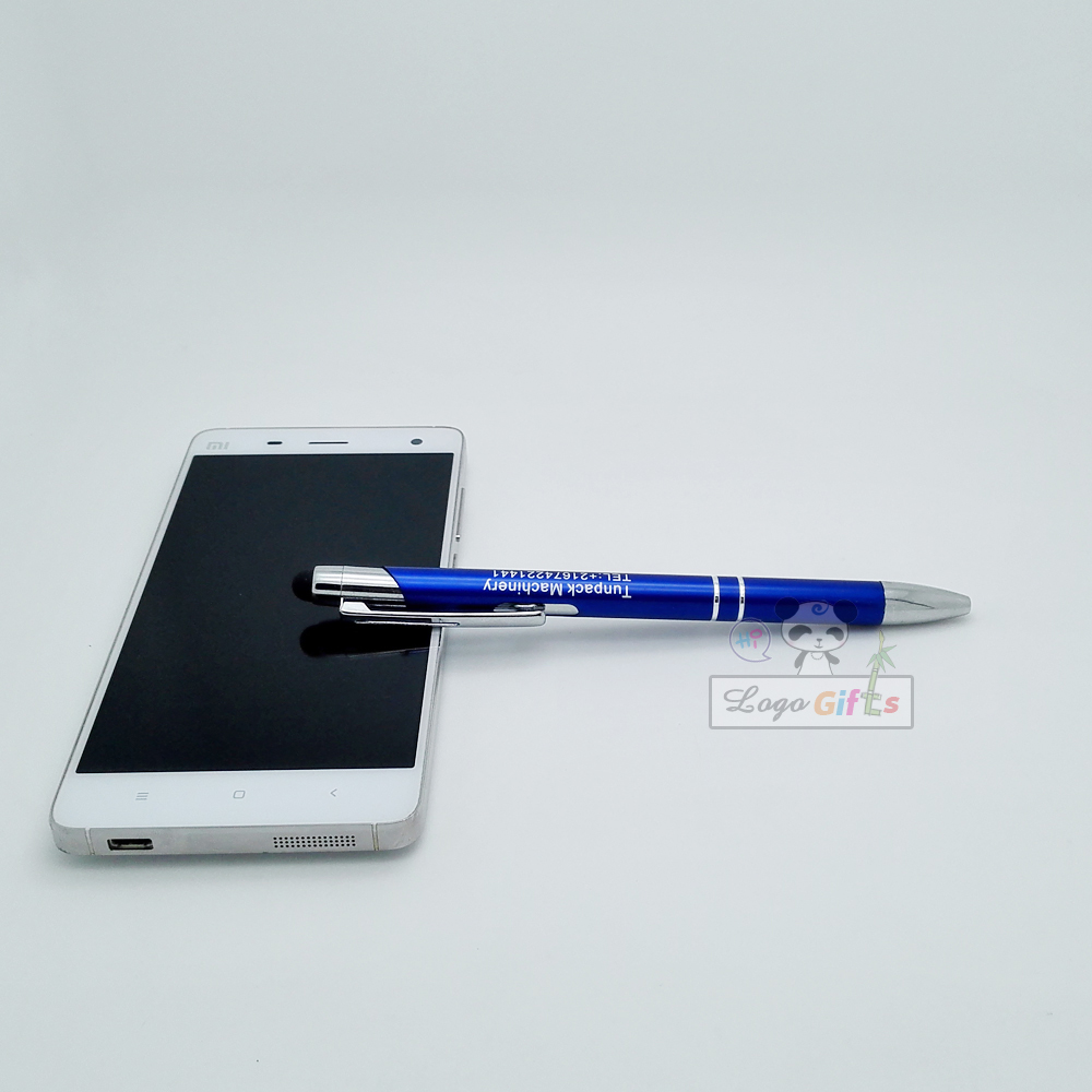 100 NEW personalized metal stylus pens engraved free with your company logo email telephone 50pcs a