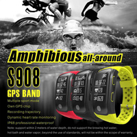 2017 Newest S908 Smart Band GPS Bluetooth 4 2 Heart Rate IP68 Waterproof Sleep Monitor Pedometer