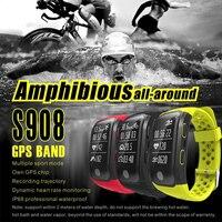 2017 neueste S908 Smart Band GPS Bluetooth 4,2 Herz Rate IP68 Wasserdichte Schlaf Monitor Schrittzähler Smart Armband Für Android IOS
