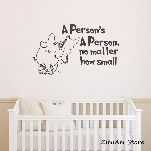 nursery elephant wall decals quotes a persons no matter how small