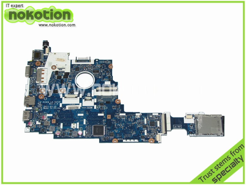 MBSFT02001 P1VE6 LA-7071P Laptop Motherboard for Acer Aspire One 722 AMD DDR3 Mainboard cup Onboard