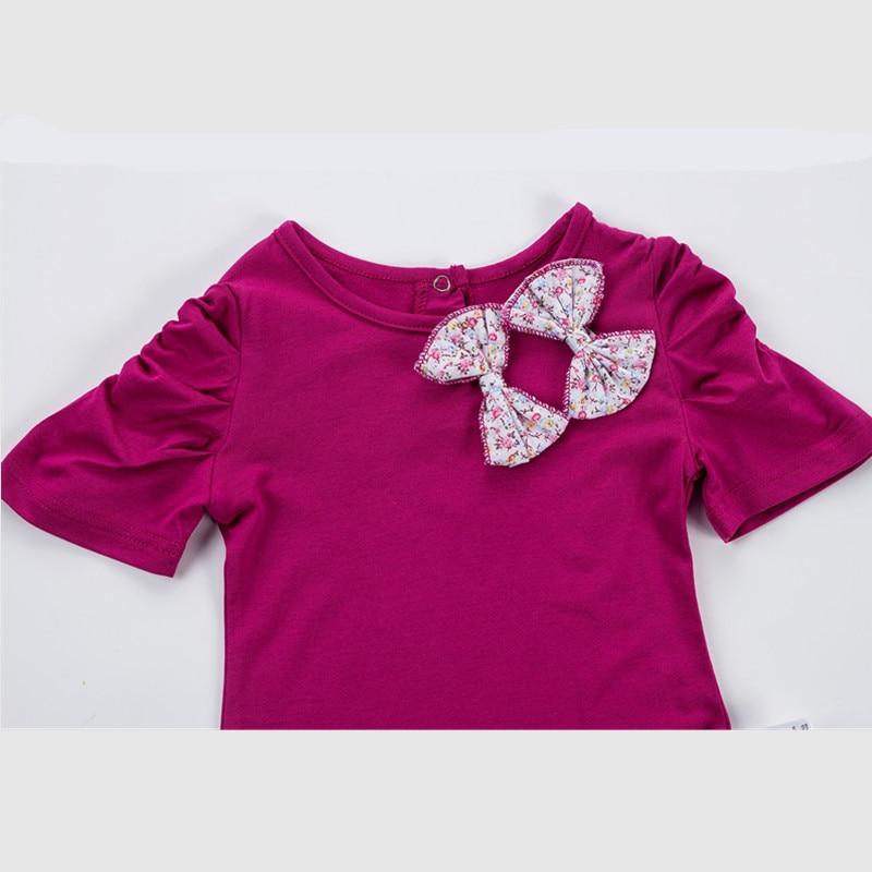 Zomer baby meisjes kleding set prinses katoen pasgeboren t-shirt + - Babykleding - Foto 5