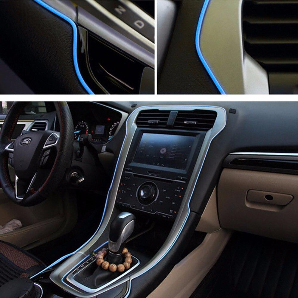 New 5M Car Universal Chrome Shiny Strip Line Interior Accessories Decor Silver